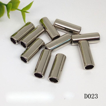 цена на 100 pcs/lot Zine Alloy Bell Buckle Stopper Cord Ends Lock Cap Rope Hanging Buckle for Bag Shoes Garment Stopper Cord Accessories