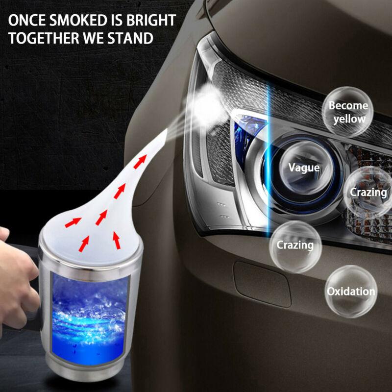 New Car Headlight Lens Repair/Restoration Polishing Kit Heating Atomization Cup O0I3 Durable And Practical