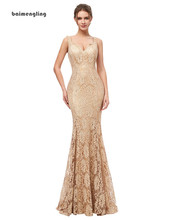 champagne evening dress, lace formal v-neck dress