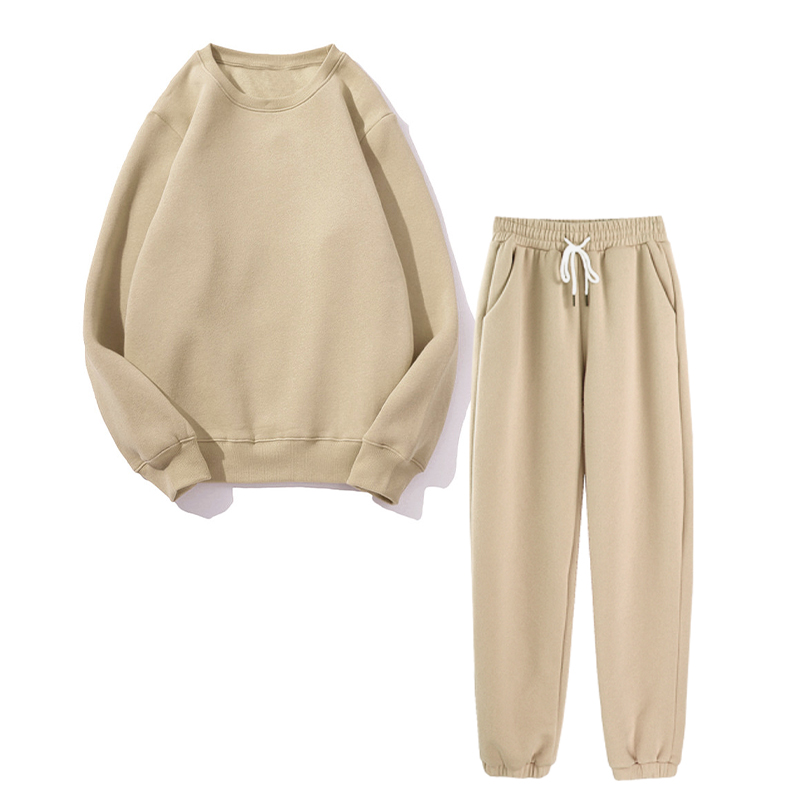 Autumn Simple Loose Fleece Set Women Solid Pullover Tops And Harem Pants 2-pieces Sets Female 2020 Winter Casual Lady Tracksuits