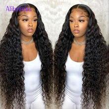 Onda profunda frontal peruca 13x6 laço frontal com laço de cabelo do bebê laços humanas perucas de renda de alta densidade para a mulher brazilianremy cabelo natural