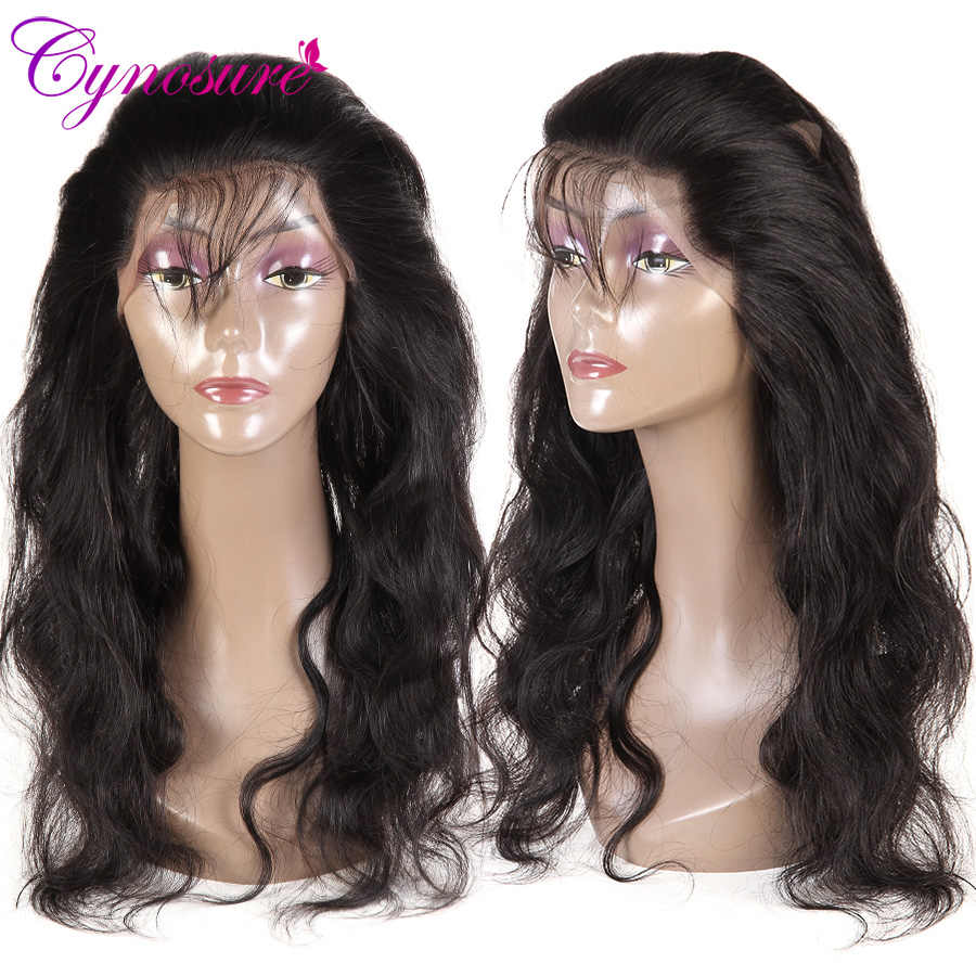 Cynosure Brazilian Body Wave 360 Lace Frontal Closure With Baby Hair Pre-Pluked 100% Remy Human Hair Closure Natural Color
