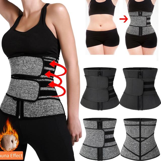 Waist Corset Trainer Body Shaper Sauna Sweat Sport Girdle Fajas Modeladoras Women Weight Loss Lumbar Shaper Workout Trimmer Belt
