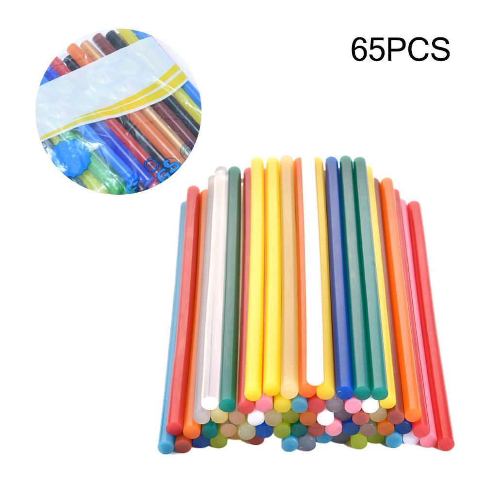 65pcs 13 Colors Hot Melt Adhesive Glue Stick 7 X 200mm DIY Hot Glue Stick Hot-glue-using Tools With The Power Of 10W-25W