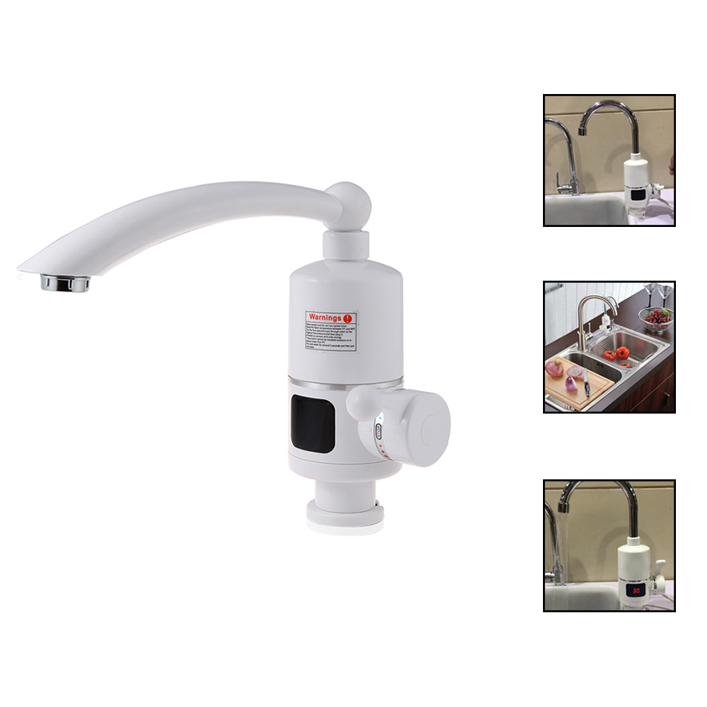 EU Plug Water Heater Tap Kitchen Faucet Instantaneous Water Heater Shower Instant Heaters Tankless Water Heating Tap