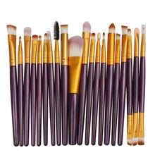 20 шт Профессиональные кисти для макияжа ресниц Набор теней