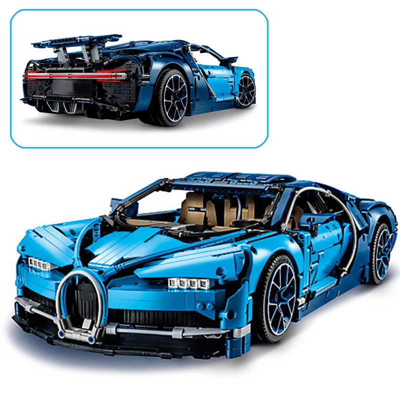 New-4031pcs-Science-Technic-Compatible-with-Lego-42083-Blue-Chiron-Racing-Car-Model-Building-Blocks-Toys