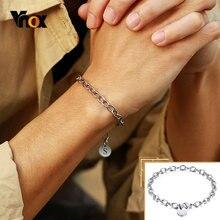 Vnox по индивидуальному заказу начальной браслет для Для мужчин