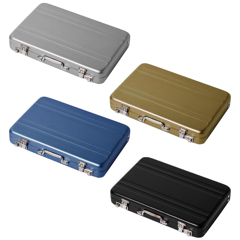 Алюминиевый ящик для хранения визиток, держатель для кредитных карт, мини чемодан, держатель для банковских карт, органайзер для ювелирных изделий, прямоугольник|Визитки|   | АлиЭкспресс
