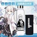 550ml japonês anime yosuga sem sora tóquio ghoul garrafa de vidro impresso mo dao zu shi personagem dos desenhos animados wei wuxian garrafa de copo de água