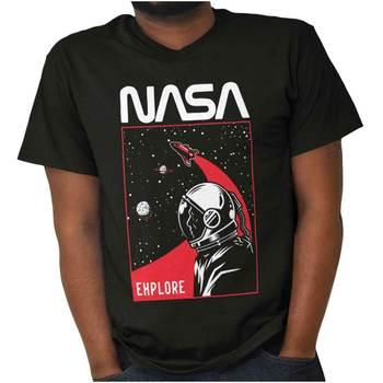 NASA astronauta Space Explorer robak Logo prezent damska lub męska koszulka z okrągłym dekoltem tanie i dobre opinie Na zakupy CN (pochodzenie) Na wiosnę i lato Z okrągłym kołnierzykiem tops SHORT COTTON Na co dzień Drukuj