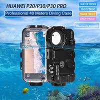 Seafrogs For HUAWEI P20 / P30 / P30 Pro Bluetooth Underwater Case Waterproof Case Diving Case Phone Case Cover 40m/130FT Diving