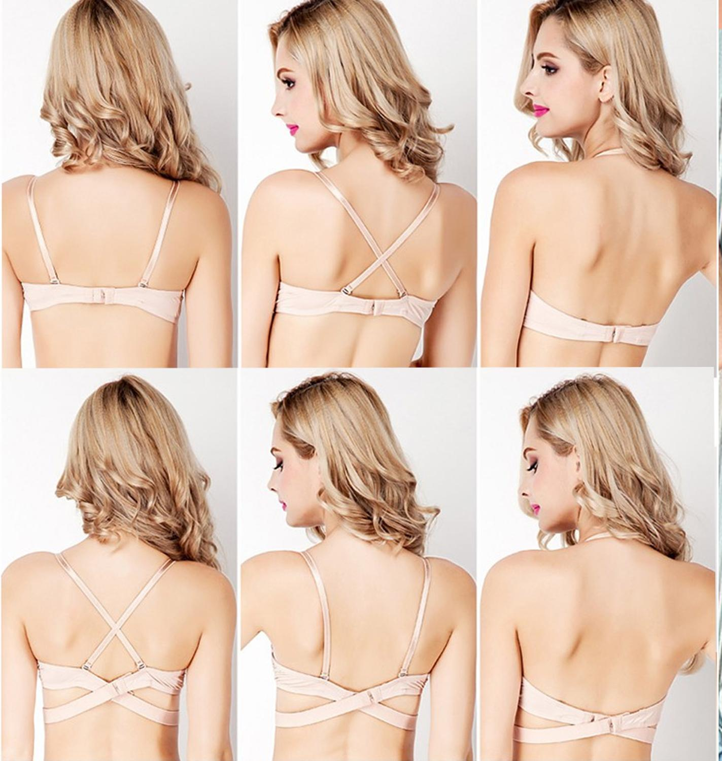 Womes Push Up Bras Deep V Padded Sexy Bra Lingerie Backless Underwired Underwear Bralette A B C Cup 2