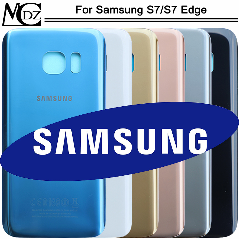 New S7 Battery Cover For Samsung Galaxy S7 G930F / S7 Edge G935F Phone Back Rear Housing Case Cover Lid