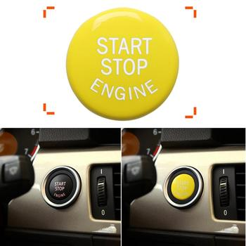 Yellow Car Engine Start Stop Switch Cap Fit for BMW 1 2 3 4 5 6 7 8 E-Chassis E46 E60 E90 E92 E81 E82 E87 E88 E21 E30 E36 E46 image