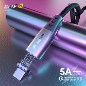 WSKEN C-Cable OPPO Fast-Charging-Charger Oneplus Usb-Type 5a Magnetic Huawei for Mate