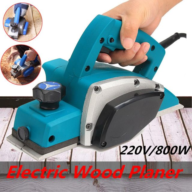 220V 800W Electric Planer Plane Variable Speed Hand Held Power Tool Wood Cutting With Accessories