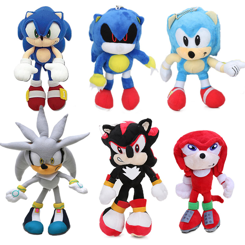 18 32cm Blue Super Sonic The Hedgehog Plush Toy Sonic Toys Sonic Shadow Knuckles Tails Cute Soft Stuffed Dolls Keychain Movies Tv Aliexpress