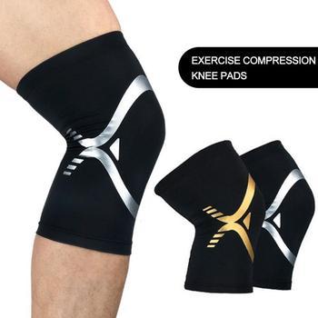 цена на Sports Kneepad Patella breathable knee Brace Protector Spring Knee Pad Basketball Running Elastic Knee Support Fitness Gear