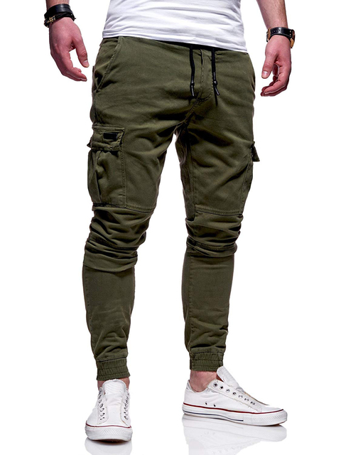 Autumn Men Joggers Pants 2020 New Casual Male Cargo Military Sweatpants Solid Multi-pocket Hip Hop Fitness Trousers Sportswear 22