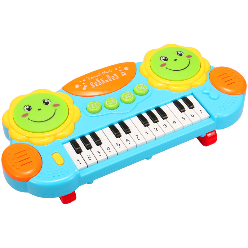 Music Drum Children Music Hand Drum Chargeable Toy Early Childhood Educational 0-1-Year-Old 3 Eighty Month Baby Infant
