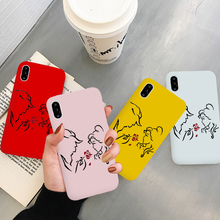 GYKZ Cartoon Anime Beauty and the Beast Phone Case For iPhone XS MAX X XR 7 8 6 6s Plus Rose Flower Soft TPU Back Cover Fundas