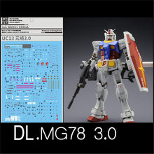 Için UC13 DL su Sticker BANDAI MG 1/100 RX 78 2.0 Gundam VER 3.0 Model Gunpla süslü çıkartmalar(China)