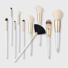 10Pcs Makeup Brush Set Foundation Loose Powder Eyeshadow Lip Blush Kit New