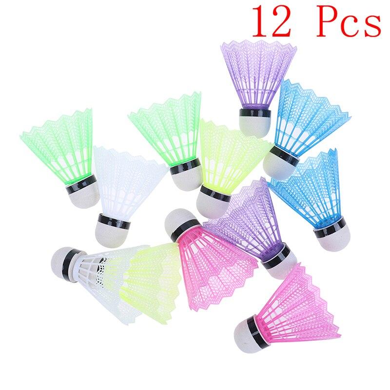 12 Pcs/set Colorful Plastic Badminton Ball Shuttlecocks Sport Training Sport