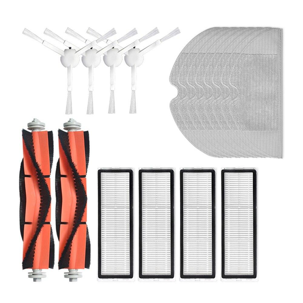 conjunto de tela Fransande Accesorios de aspiradora lavables para Dreame F9 robot aspirador Vadrol rodillo de cepillo lateral Hepa filtro Vadrol
