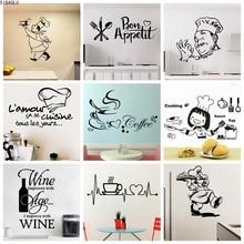 Kitchen Vinyl Wall Sticker For Home Decor Dining Room Decoration Cuisine/Wine/Coffee Wall Decals Stickers Mural Muursticker