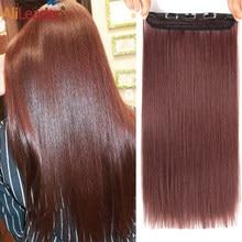 Alileader-Extensión de cabello largo y liso, 22