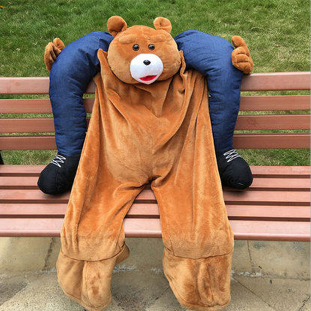 Halloween carry teddy bear mascote traje passeio