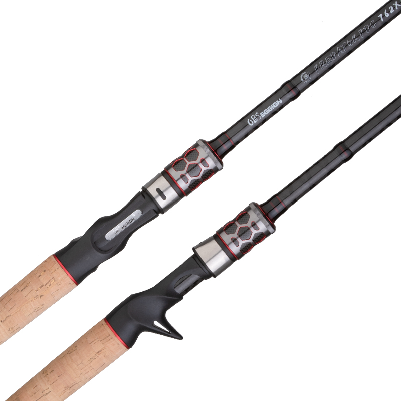 Image 3 - OBSESSION Carbon 2 Sections Baitcasting Casting Fishing Rod 68  76 2.05m 2.28m H XH jigging rod Freshwater Fishing TackleFishing Rods