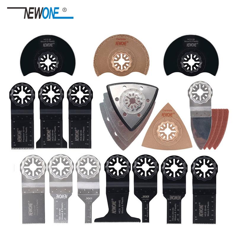 NEWONE 66 Pcs Pack Starlock E-cut Multi Cutter Saw Blades Set Oscillating Tool Blades For Cutting Wood Drywall Plastics Metal