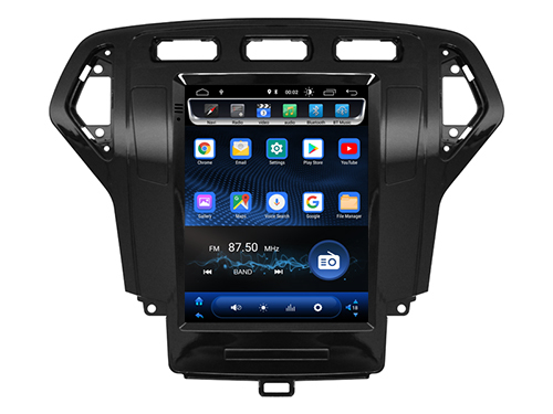 Deluxe 4G Internet Android vertical screen Car Magnet Head unit for Ford Mondeo 2007 2008 Radio bluetooth tesla GPS NAVIGATION image