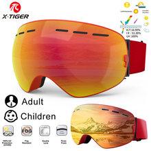 X-TIGER lunettes de Ski enfants Snowboard lunettes Parent enfant hiver Sport Ski lunettes hommes femmes Anti-buée neige Snowboard lunettes