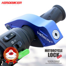 HEROBIKER bloqueo de seguridad para manillar de motocicleta, acelerador y agarre para el freno, bloqueo de gancho de freno para Scooter