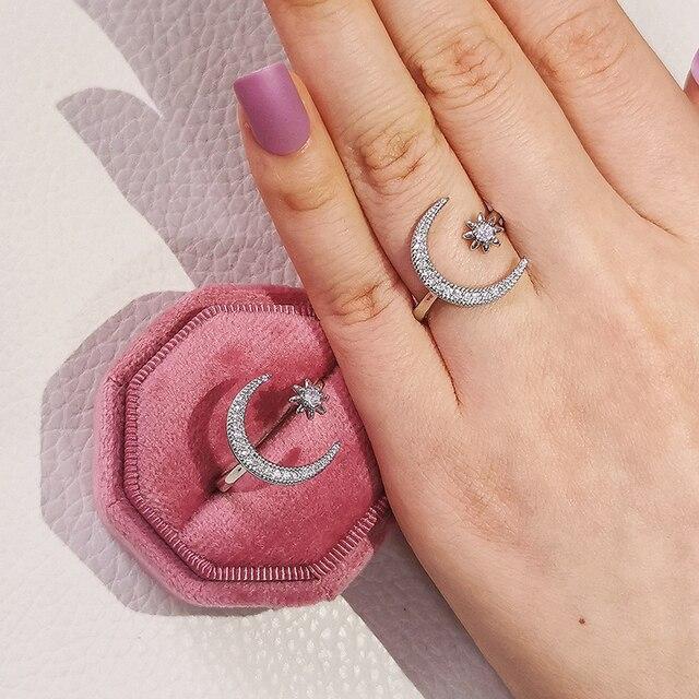 2021 New Arrival Snake Star X 925 Sterling Silver Trendy Fashion Ring Finger For Women Girl Promise Valentine's Day Gift R5502 4