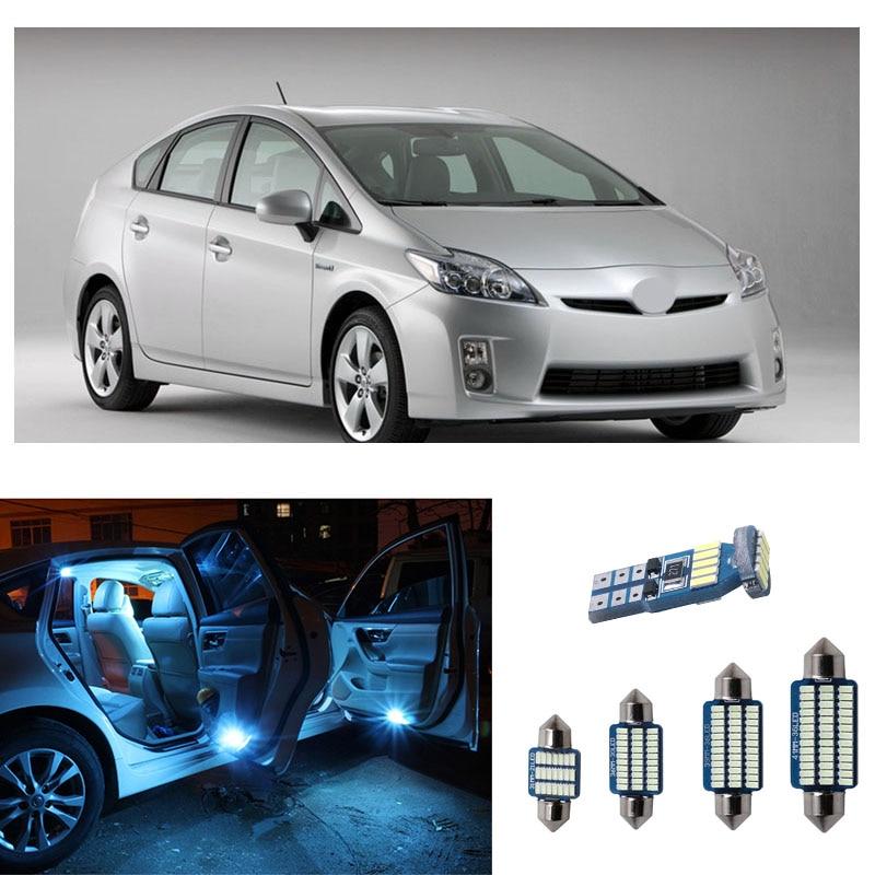 8pcs Car LED Bulbs White Lights Interior Kit For Toyota Prius / Prius C / Prius V 2004 2005 2006 2007 2008 2009 2010 2011 2012
