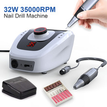 35000RPM Pro Electric Nail Drill Machine Apparatus for Manicure Pedicure with Cutter Nail Drill Art Machine Kit Nail tools