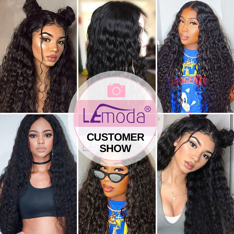 Ha0fa9a26b24746b3b421e4a02520e19bQ Malaysian Water Wave Human Hair Bundles With Closure 3 or 4 Bundles With Closure LeModa Remy Hair Extensions Middle Free Closure