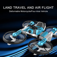 New RC Drone With Camera 2.4G Remote Control Helicopter Deformation Motorcycle Folding Four-axis Aircraft Quadcopter Toy For Kid