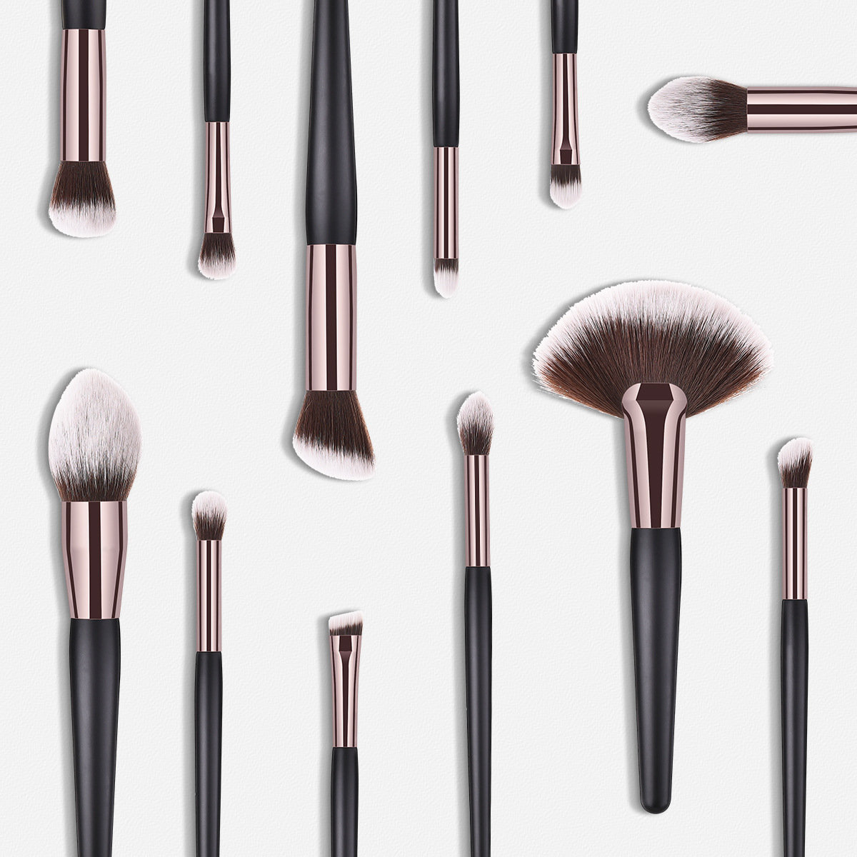 14pcs Makeup Brushes Set Powder EyeShadow Blending Eyeliner Eyelash Lip Portable Brown Contour Make Up Tool