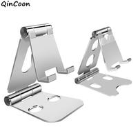 Soporte de aluminio ajustable para teléfono móvil, tableta, soporte de escritorio portátil plegable para Smartphone, iPhone, Samsung, iPad, multicolor