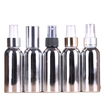 100ml Bright Sliver Spray Bottle Aluminum Refillable Perfume Bottle Empty Cosmetic Containers Gorgeous Travel Bottle 10pcs/lot фото