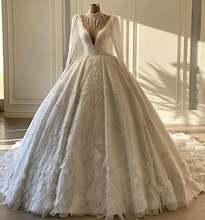 Новое поступление 2021 свадебные платья с высоким вырезом бусинами