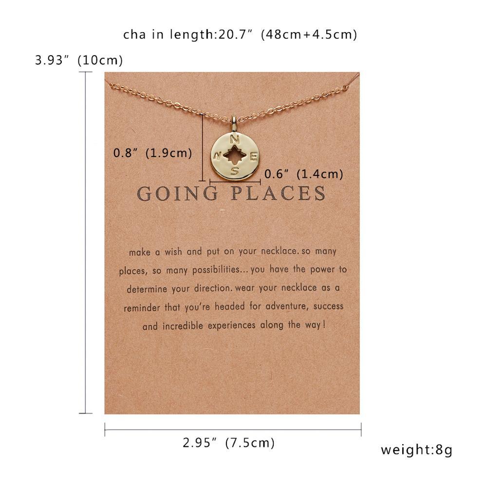 Rinhoo Karma, Двойная Цепочка, круглое ожерелье, золотое ожерелье с подвеской, модные цепочки на ключицы, массивное ожерелье, Женские Ювелирные изделия - Окраска металла: 15