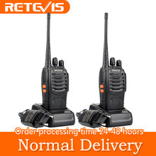 Retevis H777 Professional Walkie Talkie 2pcs 3W UHF Handy Two-Way Radio Transceiver USB Rechargeable Walkie-Talkie Communicator(China)