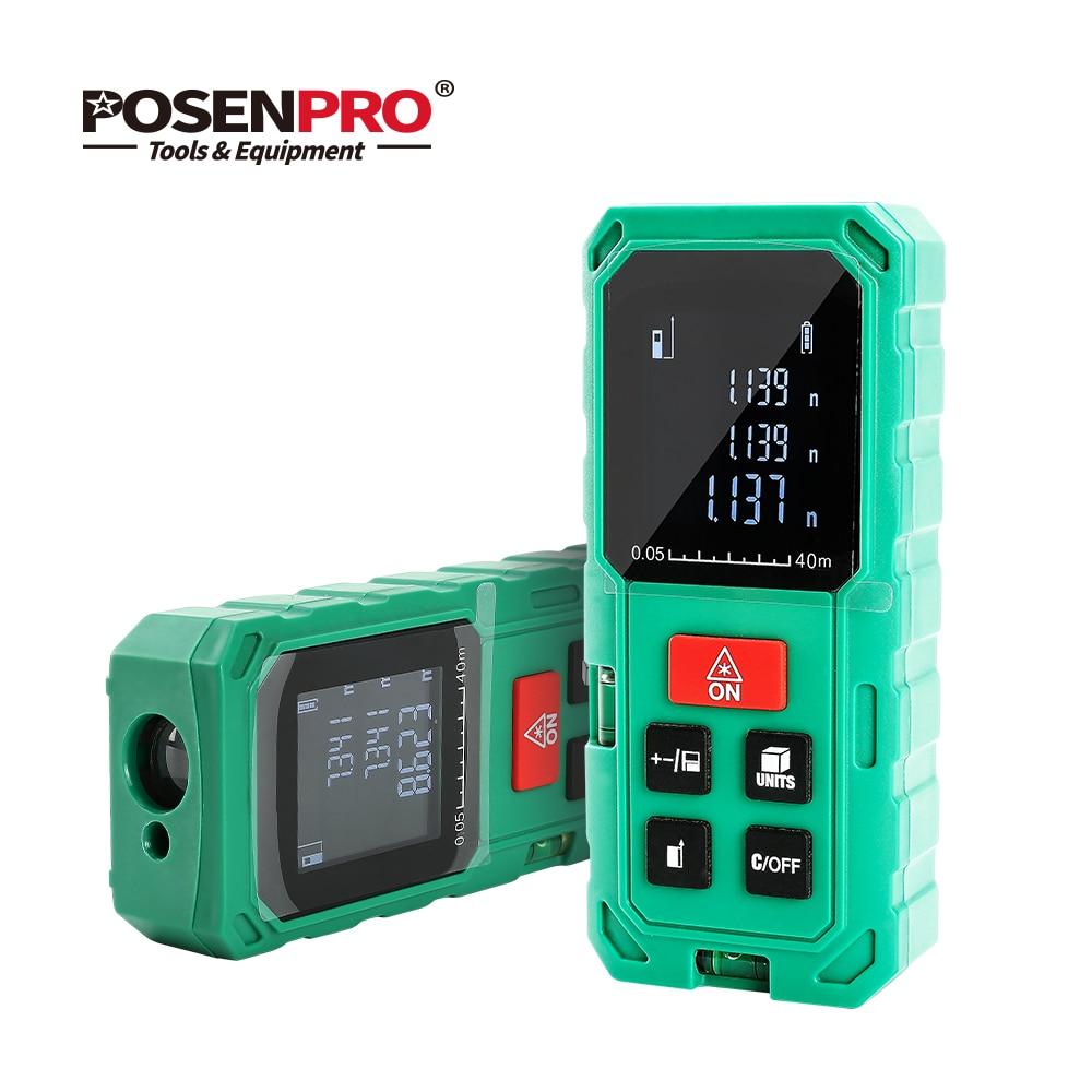 Medidor de Distância A Laser Mini Probtale POSENPRO Handheld 40m 60m 100m Mini Medidor Diastimeter Laser Medida Telêmetro Laser